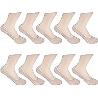HBF 10 Pares Calcetines Invisibles Mujer Algodón Calcetines Cortos Elástco Con Silicona…