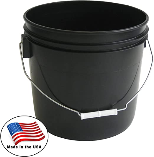 Case of 10 Plastic 2 Gallon Pails White Heavy Duty Pail Bucket Tools Storage