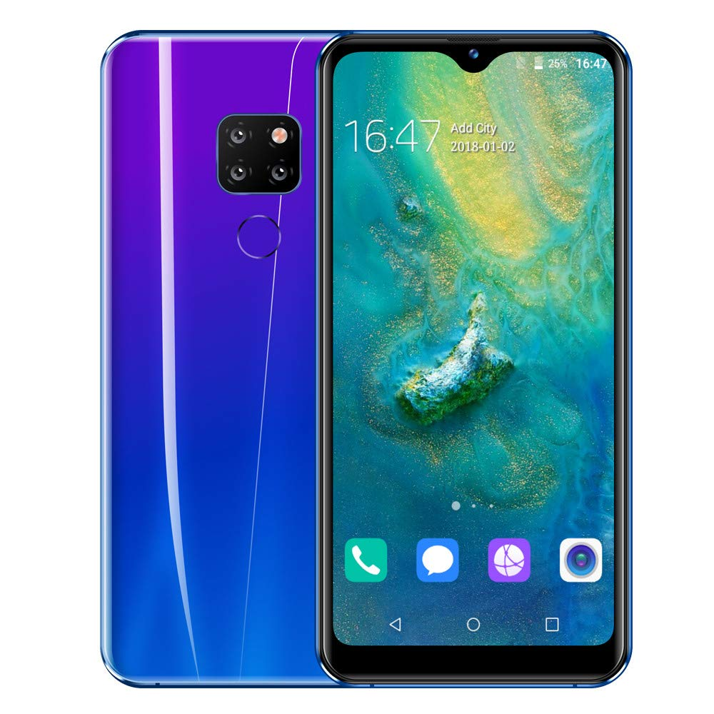 Unlocked Smart Cellphones | 6.3 inch HD Display Cell Phones 3 Camera GSM/WCDMA 3G WiFi Mobile Phones | 1GB RAM 16GB ROM Dual SIM Ultrathin Smartphone Telephones (Purple) by Inkach - Cell Phoes