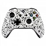 eXtremeRate Textured White Faceplate Cover, 3D Splashing Front Housing Shell Case, Comfortable Non-slip Replacement Kit for Xbox One S & Xbox One X Controller Review