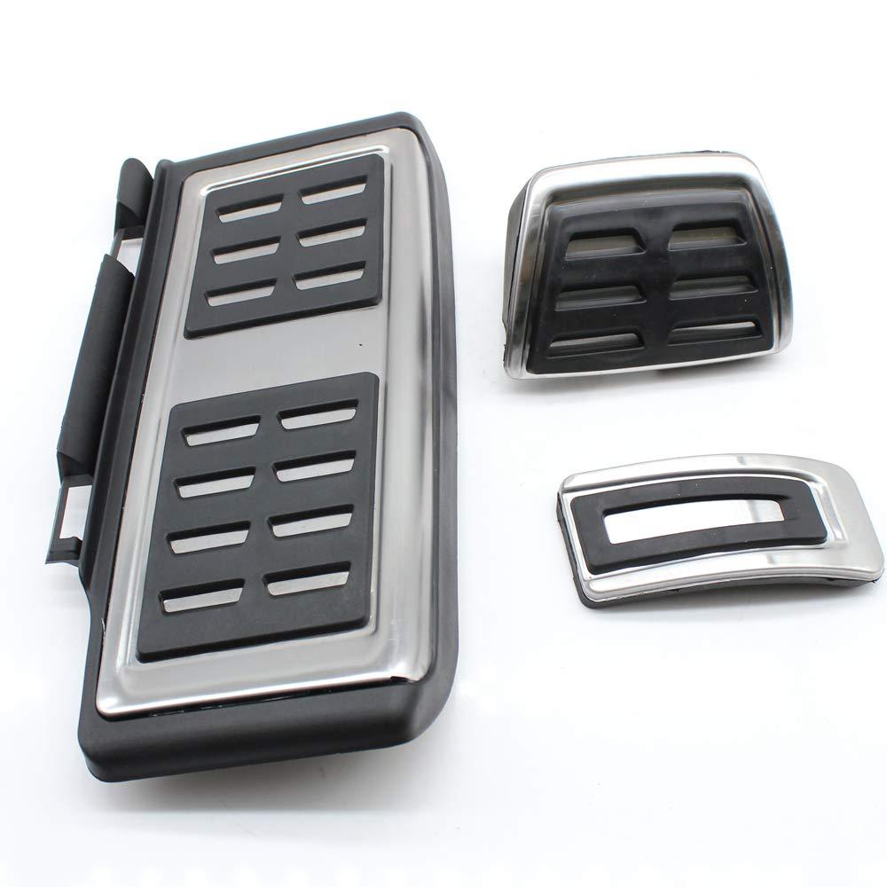 Pédales d'accélérateur et capuchons de pédale en acier inoxydable Pédalier de pédalage Freins Kit d'outils automatique