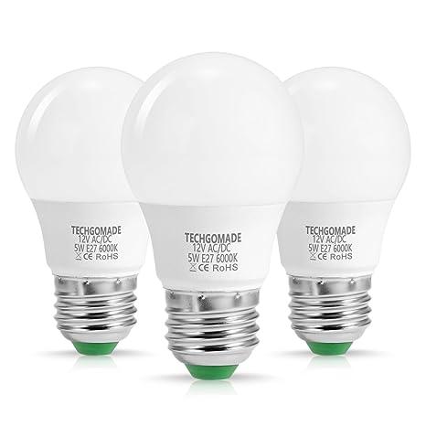3 X TechGomade E27 Edison Bombillas LED A50, 5W, 40W, equivalente a incandescente