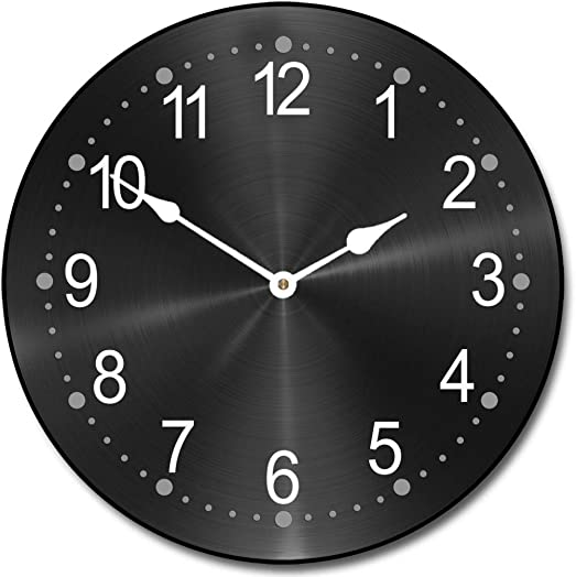 Heavy Metal Black Wall Clock