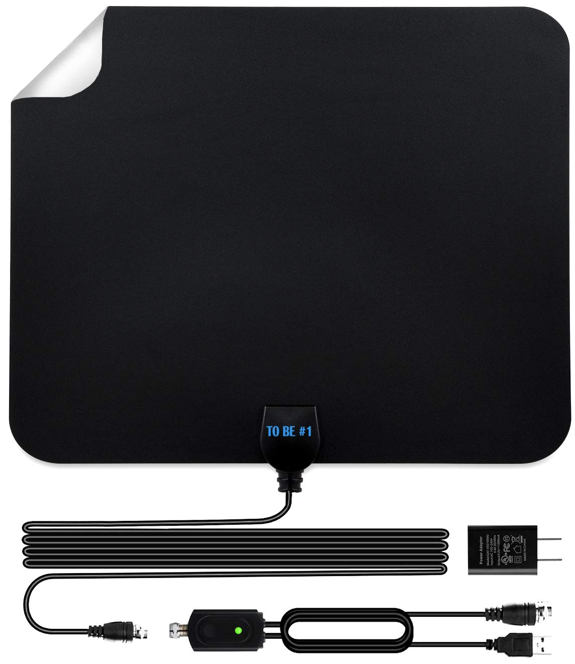 Amplified TV Antennas for Digital TV Indoor 2019, 60 to 120 Miles Long Range , HD Digital TV Antennas Supports All TV , 4K, 1080p, Designed in USA.