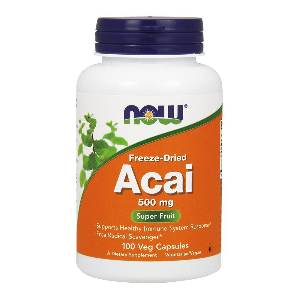 NOW Acai 500 mg,100 Veg Capsules