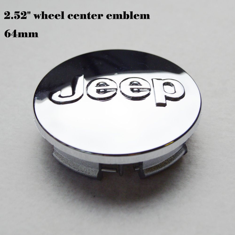 Liberty silvery black logo jeep emblem 64mm Wheel Center Caps Hubcaps matte silvery Hanway 2.52 jeep emblem For Jeep Grand Cherokee Jeep Wrangler Rubicon