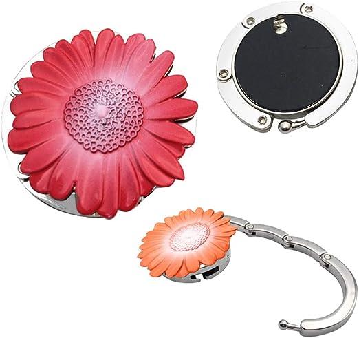 Blue Hand Dawn Flower Handbag Table Hook Table Hook Folding Bag Desk Hanger Foldable Holder