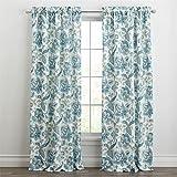 "Best BrylaneHome Home Curtain Panels - BrylaneHome Pristina Rod-Pocket Panel (Aqua,50"" W 84"" L) Review"