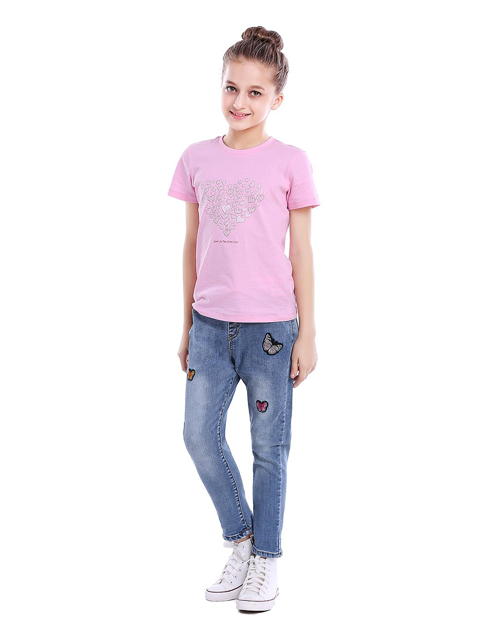 Premium Skinny Girls Jeans Slim Fit Jean Pants for Toddler and Teen Girls