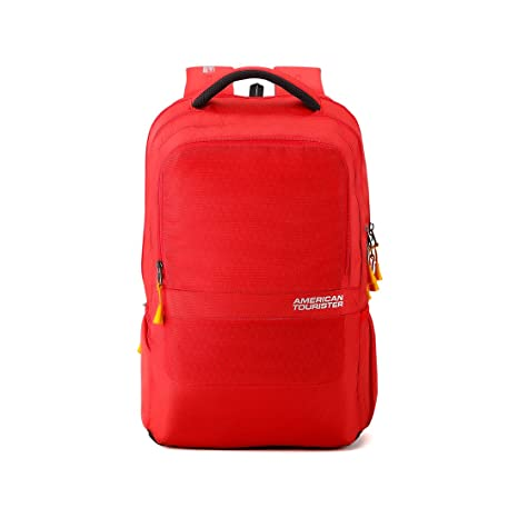 ab73d43d812e American Tourister 29 Ltrs Red Laptop Backpack (AMT TECH Q Laptop BKPK01  RED)  Amazon.in  Bags