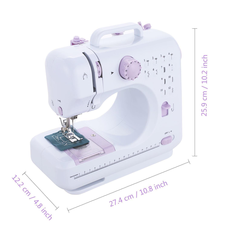 AIMADO Máquina de Coser Automática de Doble Velocidad Máquina de Coser Electrónica Costura Automática Enchufe de EU (EU Stock): Amazon.es: Hogar