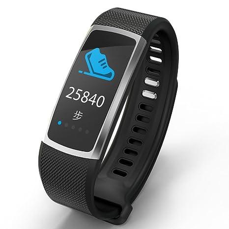 PANJIA Pulsera inteligente T8 Fitness Tracker con monitor de ritmo cardíaco IP67 para deportes y fitness