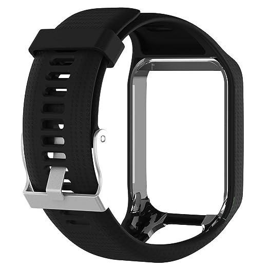 Pulsera de repuesto de silicona, banda de reloj de 25 cm de largo para TomTom