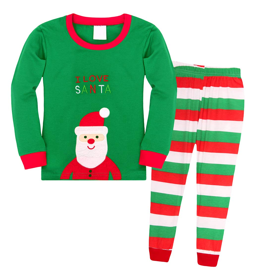 HenzWorld Santa Claus Christmas Pajamas Sleepwear Kids Cosplay Clothes Set