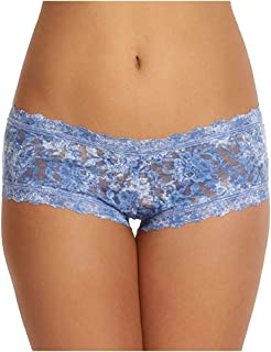 product image for hanky panky Women's Annabelle Boyshort White/Baby Blue Boy Shorts