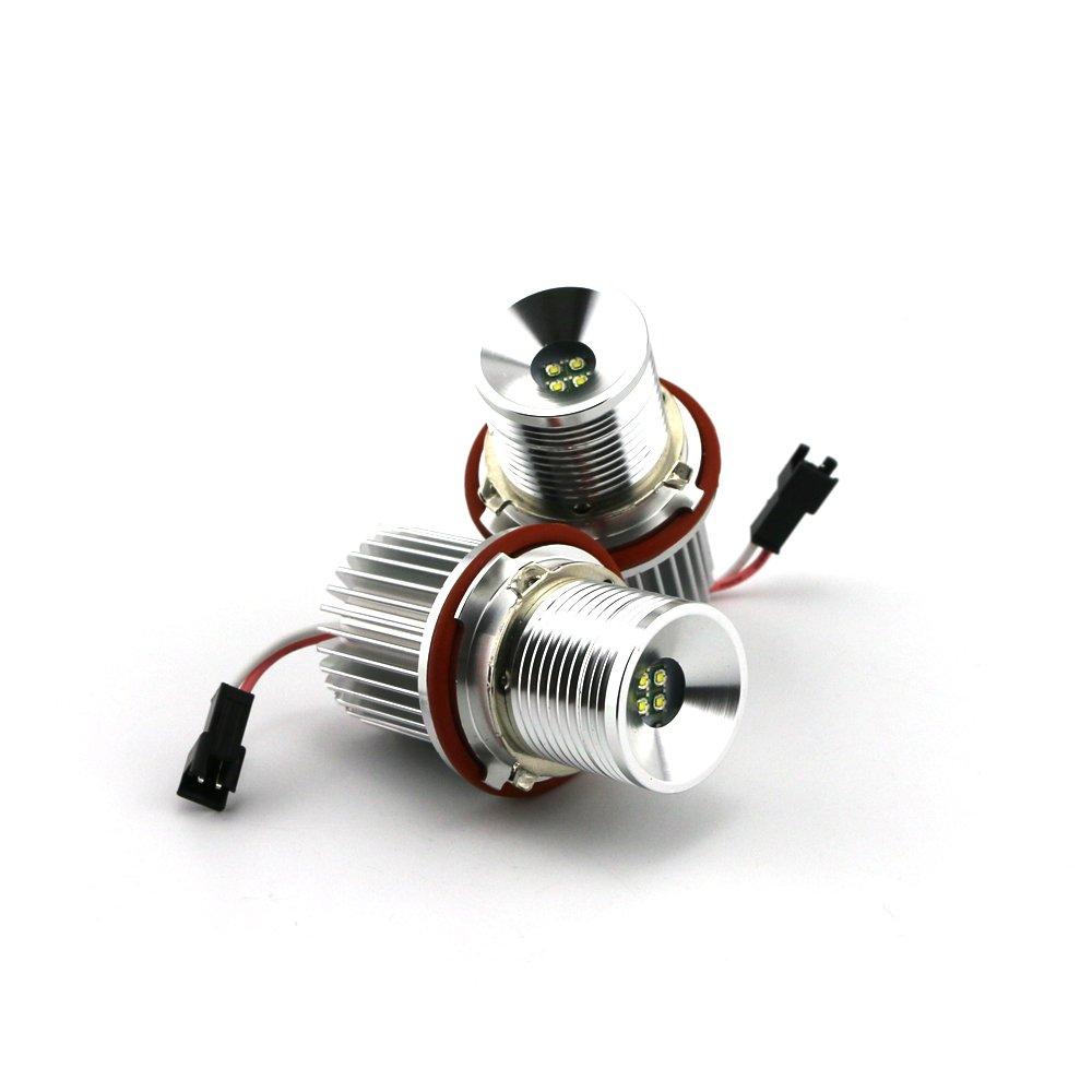 ZXREEK 2 x 6500K 7W E39 Aur/éoles Blanc Haute Puissance LED Yeux dange Bague marqueur ampoules pour S/érie 5 6 7 X3 X5