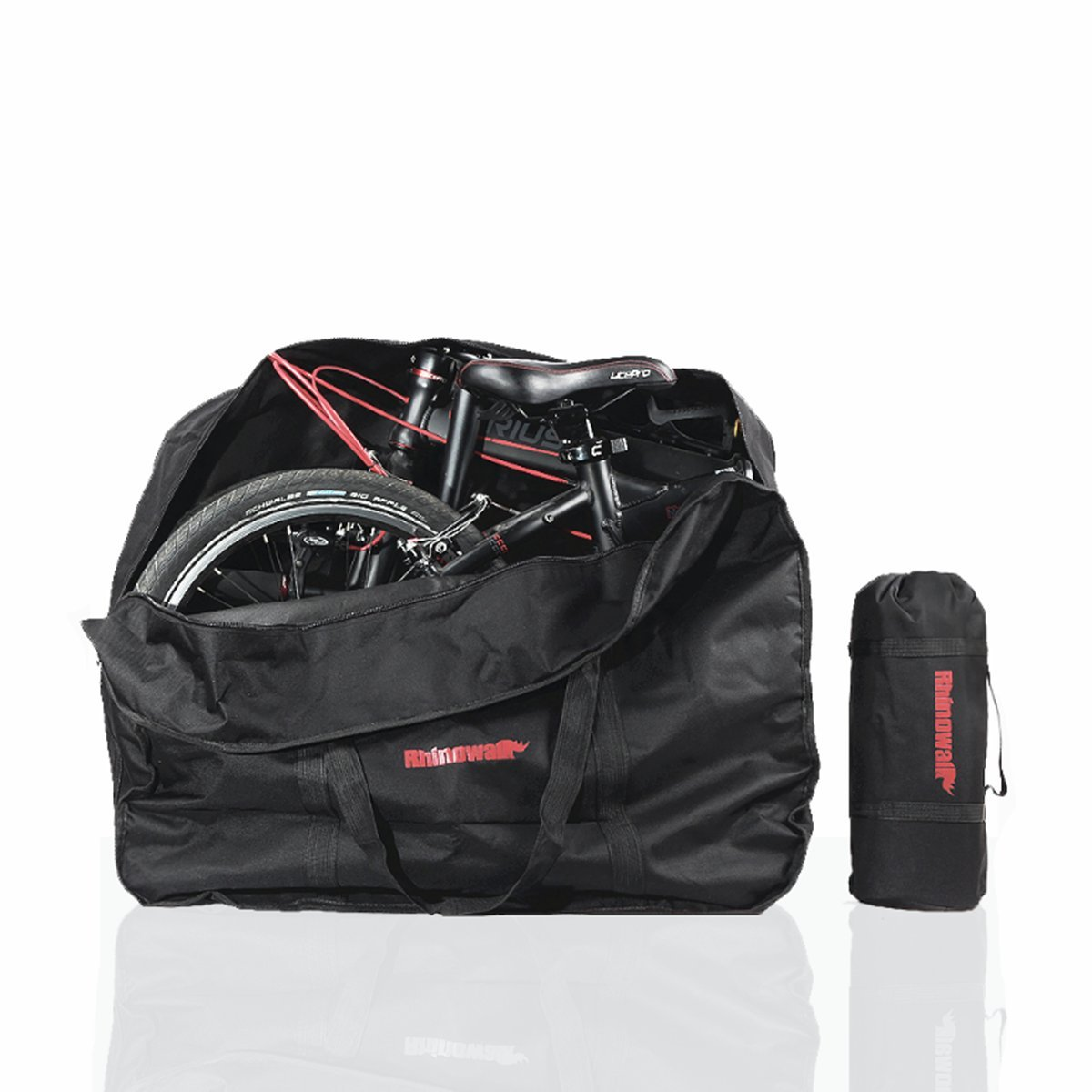 AMOMO Folding Bike Bag 14 inch to 20 inch Bicycle Travel Carrier Case Box Carry Bag Pouch Bike Transport Case