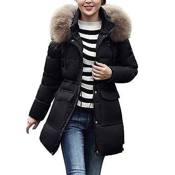 FuweiEncore Abrigo de Invierno Escudo de Las señoras, Moda para Mujer Moda de Abrigo Abrigos