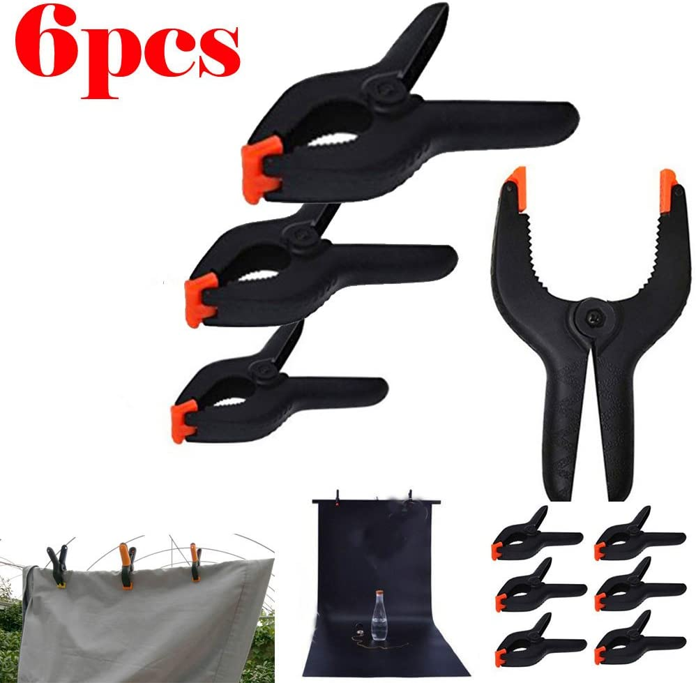 OUNONA 6 PCS Spring Clamps Woodworking Clamp A Type Clip Furniture Tools