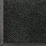 Andersen 2295 Waterhog Eco Premier Polyester Fiber Entrance Indoor/Outdoor Floor Mat, SBR Rubber Backing, 6-Feet Length X 4-Feet Width, 3/8-Inch Thick, Black Smoke