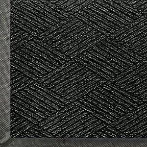"""Andersen 2295 WaterHog Eco Premier PET Polyester Fiber Entrance Indoor/Outdoor Floor Mat, SBR Rubber Backing, 4' Length x 3' Width, 3/8"""" Thick, Black Smoke"""