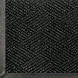 Andersen 2295 WaterHog Eco Premier Polyester Fiber Entrance Indoor/Outdoor Floor Mat, SBR Rubber Backing, 12.2' Length x 4' Width, 3/8'' Thick, Black Smoke