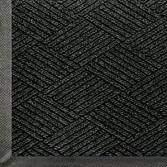 WaterHog Eco Commercial-Grade Entrance Mat, Indoor/Outdoor Black Smoke Floor Mat    3' Length x 2' Width,   Black Smoke   by M+A Matting - 2295700023