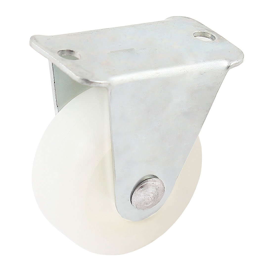Uxcell 1.2 Inch Dia Trolley Fixed Wheel Caster Screw Mount Plate White