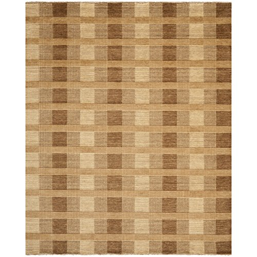 Brown Hand Knotted Wool - Safavieh Tibetan Collection TIB332C Hand-Knotted Brown Wool Area Rug (9' x 12')