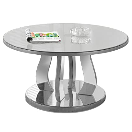 Monarch Coffee Table, 36u0026quot;, Brushed Pewter