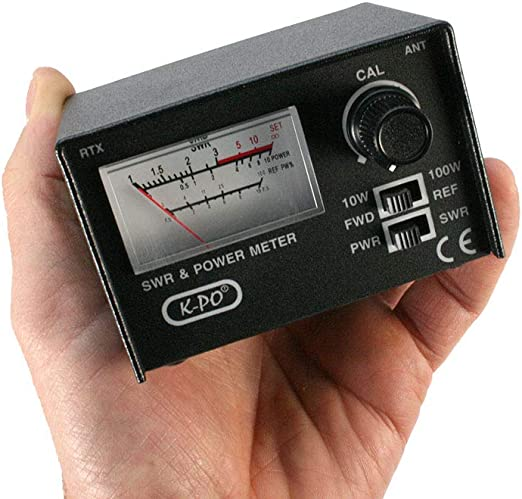 K-PO SWR-430 Medidor de estacionarias ROE / Watimetro 100 watios Frecuencias de 26-30 MHz
