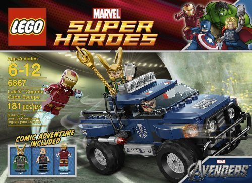 Includes 3 Minifigures: Iron Man, Loki And Hawkeye - LEGO Loki's Cosmic Cube Escape 6867 - Lokis Cosmic Cube