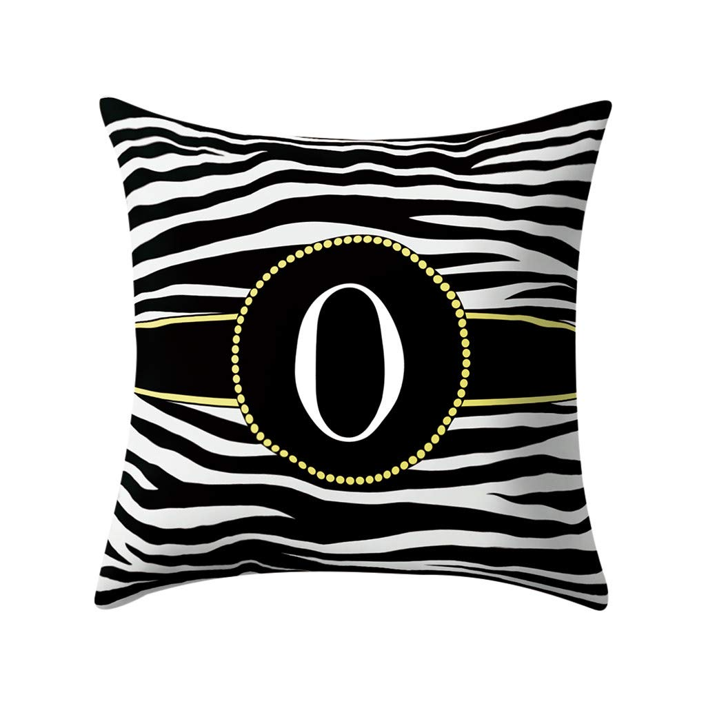 AOJIAN Home Decor Cushion Cover Alphabet Decorative Throw Pillow Covers Protectors Bolster Case Pillowslip