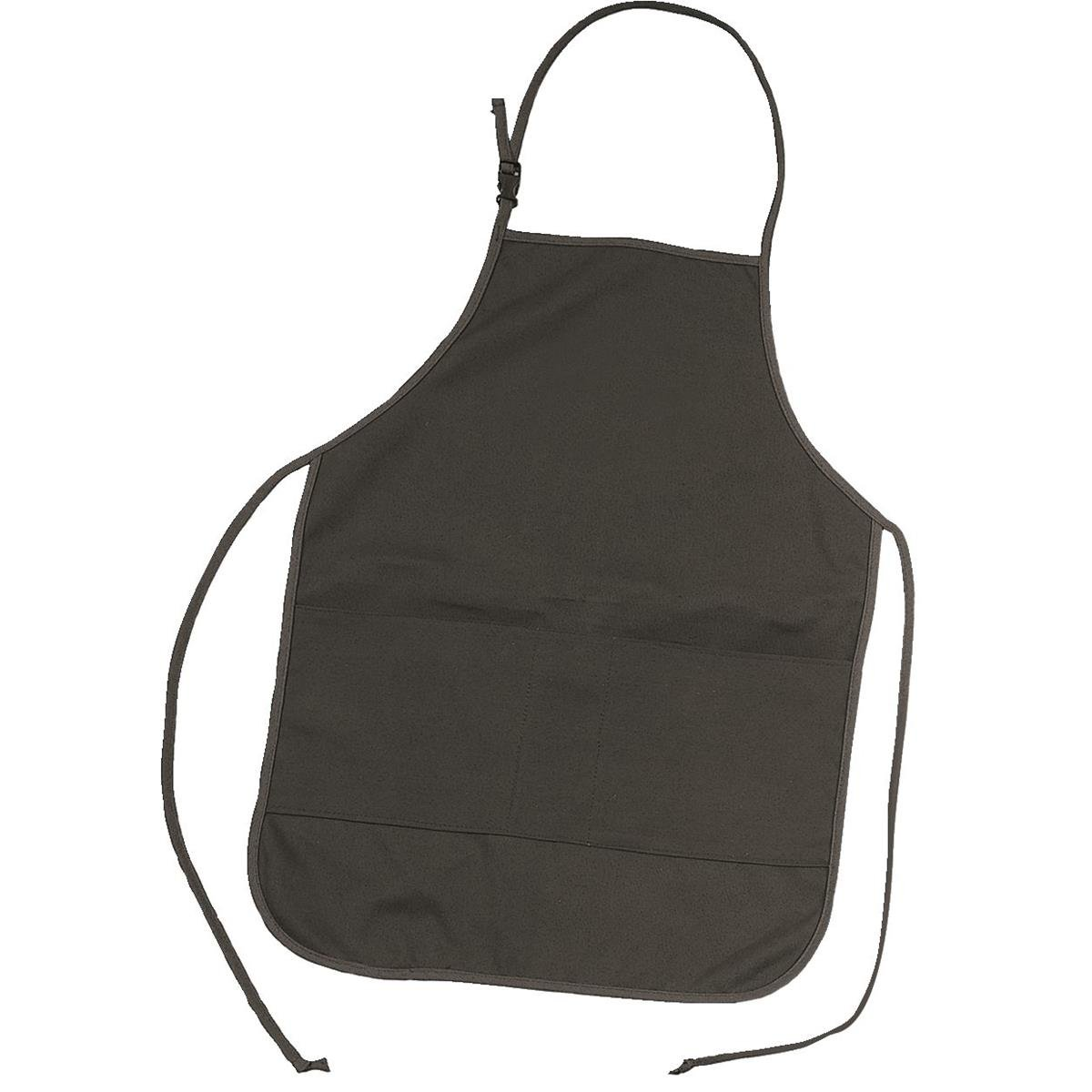 GEMPLER'S Heavy-Duty Cotton Duck Work Apron, Ideal for Garden Centers, Green Houses or Nurseries, Machine and Repair Shops, 26'' L x 21-1/2''W, Black