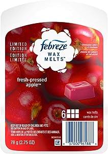 Febreze Wax Melts Air Freshener, Fresh-Pressed Apple, 2.75 oz, 6 ct ( pack of 2)
