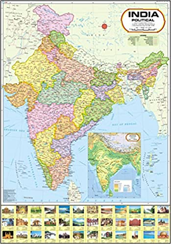 Buy india map political 70 x 100 cm book online at low prices in buy india map political 70 x 100 cm book online at low prices in india india map political 70 x 100 cm reviews ratings amazon gumiabroncs Gallery