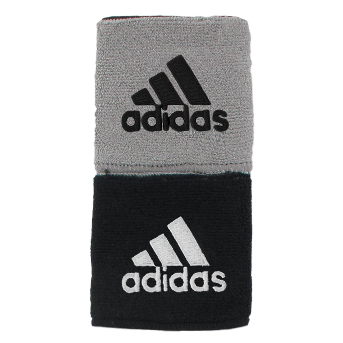 adidas Interval Reversible Wristband, Black/White / Aluminum 2/Black, One Size Fits All by adidas (Image #1)