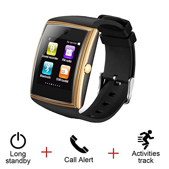Amazon.com: Bluetooth Smart Watch for iPhone Android Phone ...