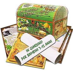 Caccia al tesoro in scatola in giardino - in spiaggia o casa/giardino 7-12 anni - per feste di compleanno - giochi per bambini 9 spesavip