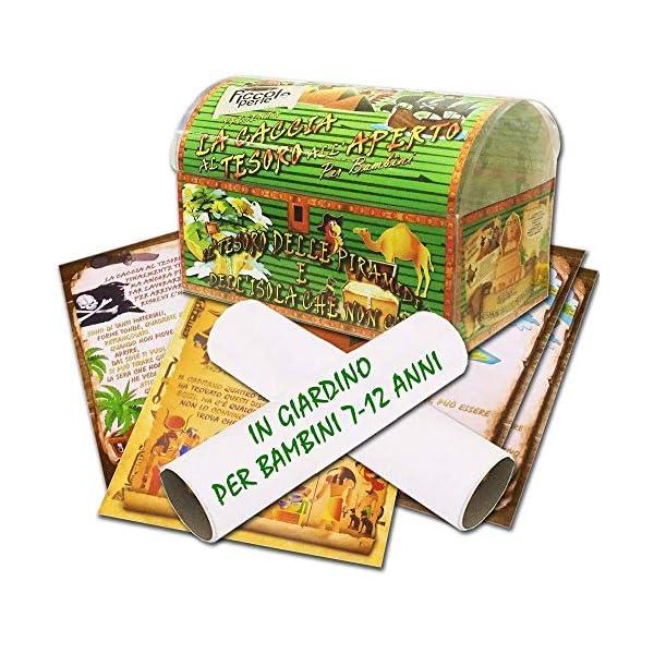 Caccia al tesoro in scatola in giardino - in spiaggia o casa/giardino 7-12 anni - per feste di compleanno - giochi per… 1 spesavip