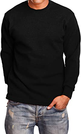 NE PEOPLE Mens Light Weight Long Sleeve Round Neck Thermal Basic T Shirt NEMT42