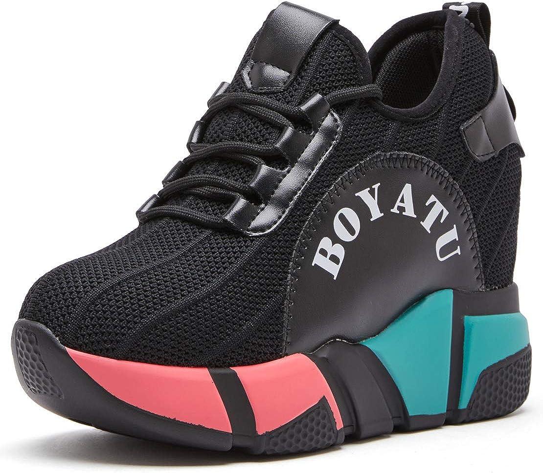 BOYATU Hidden Wedge Sneakers Breathable