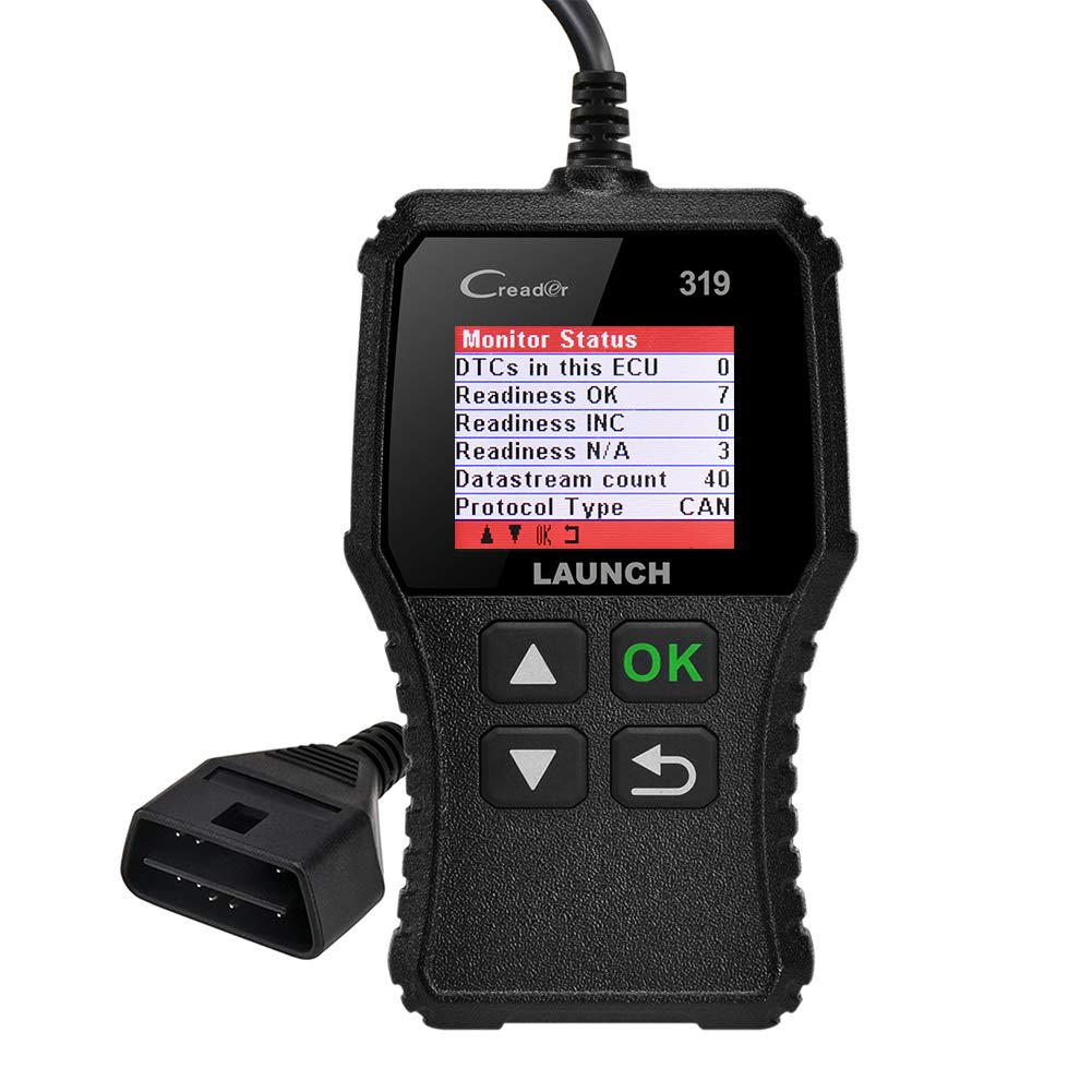 LAUNCH CR319 Code Reader Automotive Engine Light Check OBD2 Scanner,CAN Diagnostic Scan Tool with Full OBD II Functions (CR319)