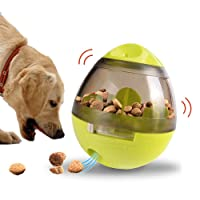 TeaQ Treat Dispenser for Dogs Interactive Toys with Adjustable Food Hole Roly-poly Fun Puzzle Games IQ Training