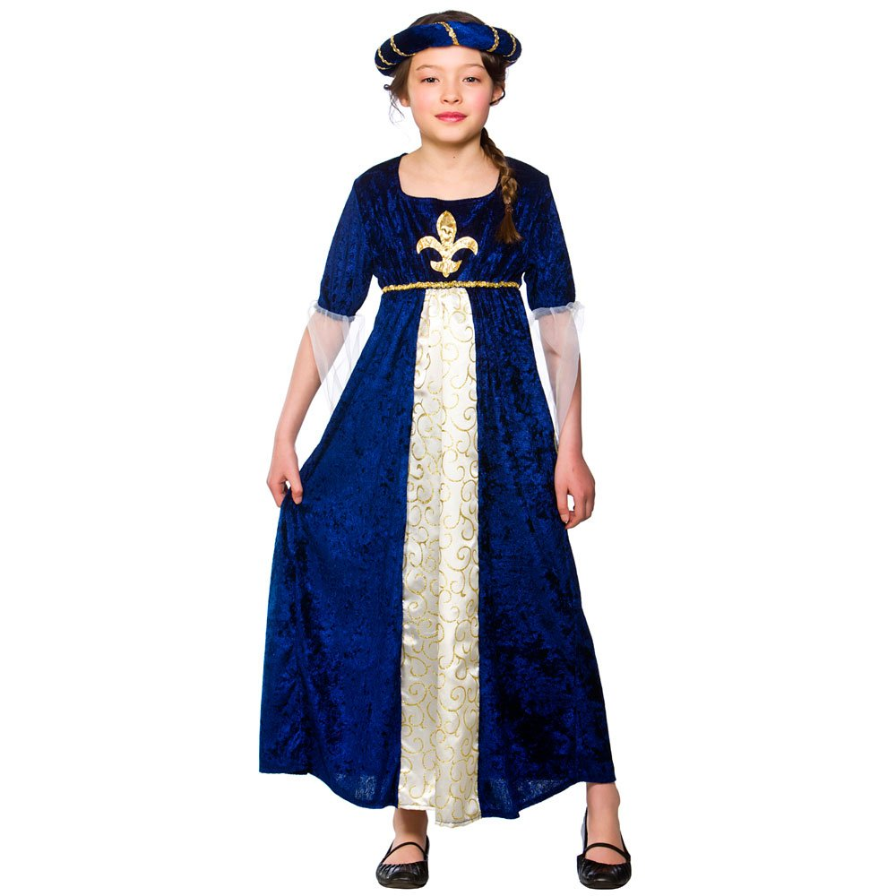 XL) Girls Tudor Princess Costume for Medieval Fancy Dress