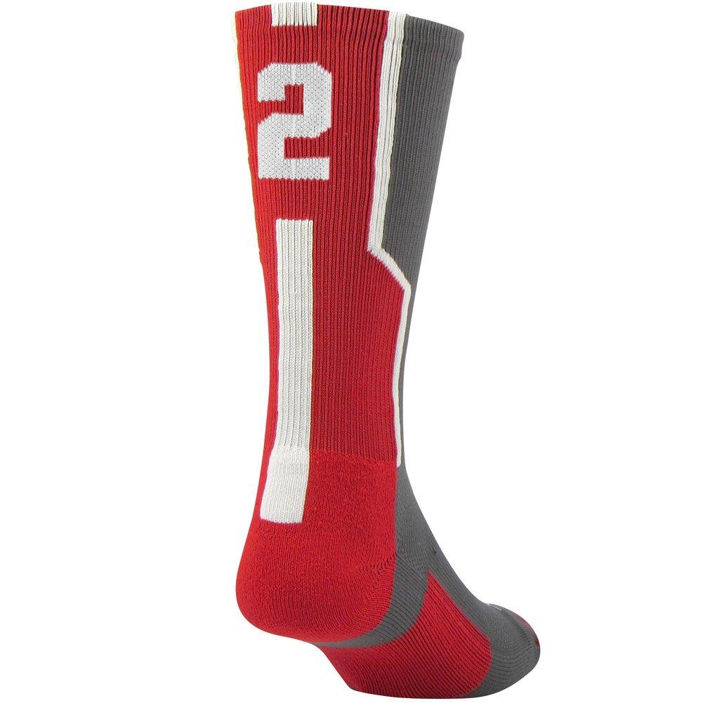 b3cc9d1a1 Twin City Player ID Sock (Single Sock) Graphite Scarlet White Large Twin