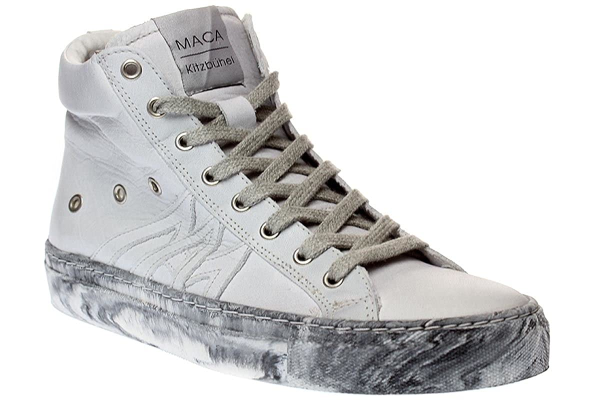 Maca Kitzbühel 2014 Schuhe - Damen Schuhe 2014 Turnschuhe Schnürer - Weiß-grau 3ab44c