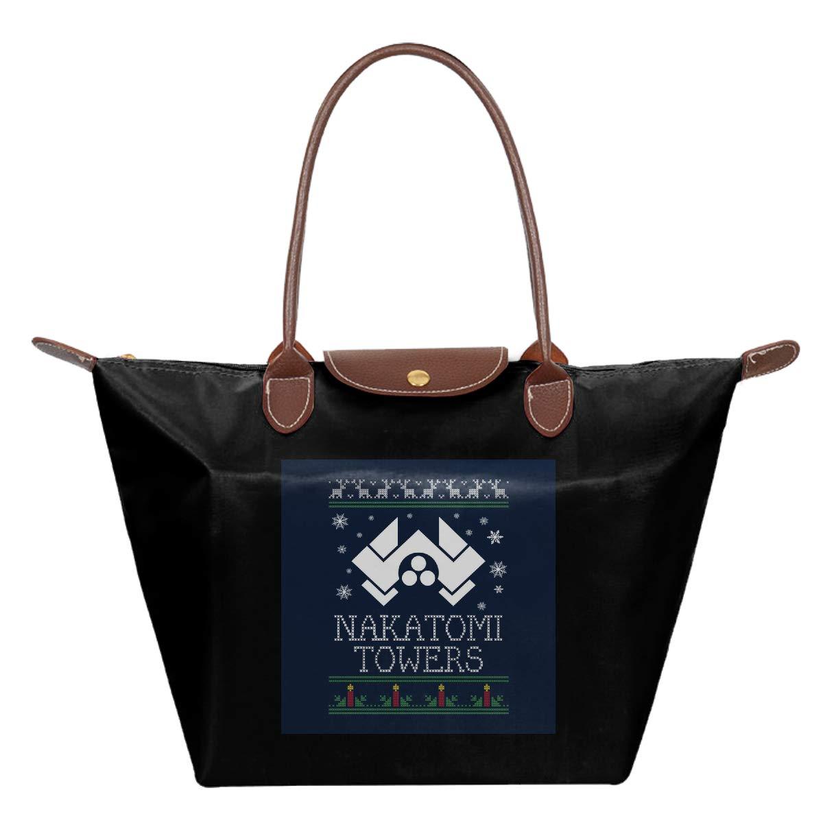 Die Hard Nakatomi Towers Christmas Waterproof Leather Folded Messenger Nylon Bag Travel Tote Hopping Folding School Handbags