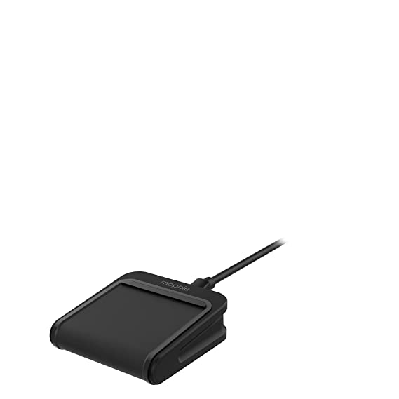 san francisco 7fcd9 c05de mophie Charge Stream Mini - 5W Wireless Travel Charger for Apple iPhone 8,  8 Plus, X, Samsung and Qi Enabled Smartphones - Black