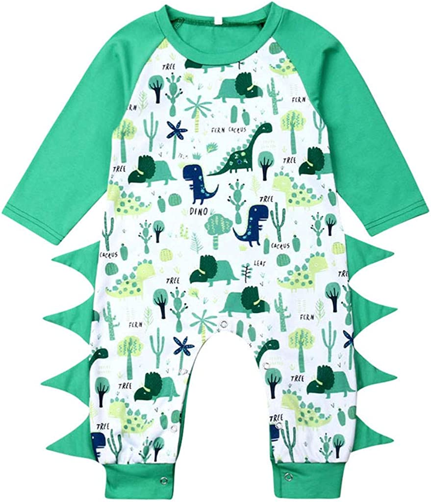 jerferr Baby Jumpsuit Jungen-M/ädchen-Dinosaurier-Karikatur-Druck-Spielanzug-Overall-Kleidung